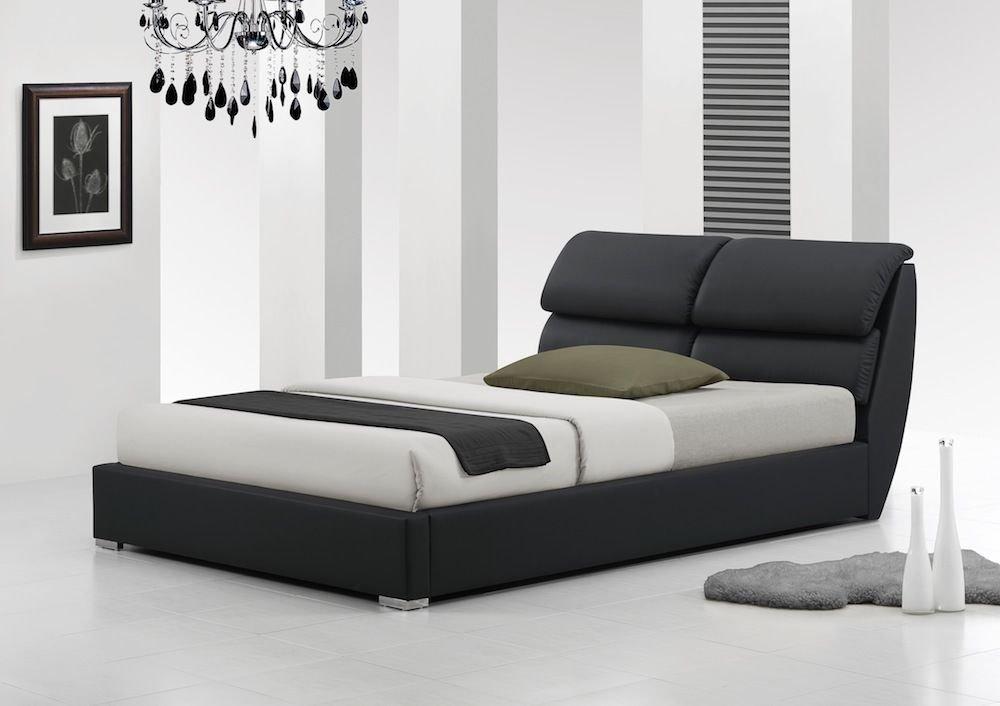 IJ Interiors   LIBRETTO MODERN LEATHER BED No Mattress BLACK 5FT Kingsize   Amazon co uk  Kitchen   Home. IJ Interiors   LIBRETTO MODERN LEATHER BED No Mattress BLACK 5FT