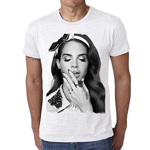 Lana Del Rey H: Herren T-shirt - Weiß, XL, t shirt herren,Geschenk