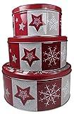 khevga Keksdose Weihnachten Blech Plätzchendose Set