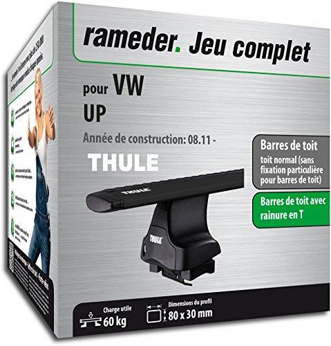 Rameder Pack Barres de Toit WingBar Evo pour VW UP (119385-09734-1-FR)