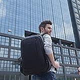 Slotra Business Laptop Rucksack 15.6 Zoll Wasserabweisend Reisen Outdoor Mordern Rucksack Schwarz - 4
