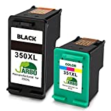 JARBO Ersetzt HP 350XL 351XL Druckerpatronen Schwarz/Tri-Farbe für HP Deskjet D4260 D4360 HP Photosmart C4280 C4340 C4380 C5280 C4424 C4480 C4580 C4524 D5360 HP Officejet J6424 J5780 J5785