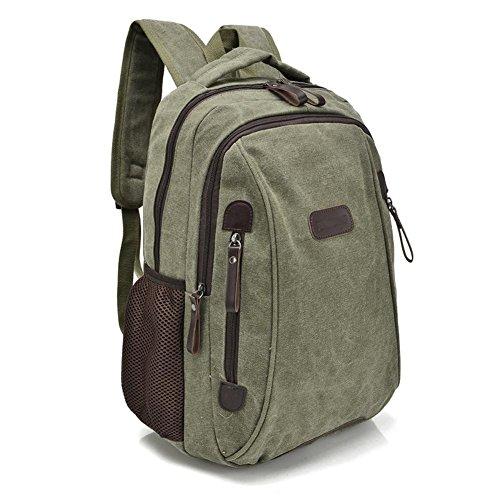 SZH&BEIB Unisexsegeltuch-Rucksack beiläufige Art und Weise im Freien Travel Gear Schule und Beruf Laptop-Tasche E