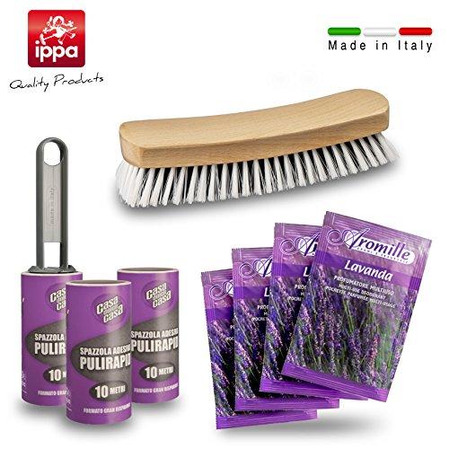 3Bürsten Aufkleber für insgesamt 30Meter-Papier selbstklebend, eine Bürste für Kleidung und 4Duft Lavendel für Schubladen und Schränke. Katze-haar-flusen-bürste