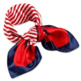 femmes carre echarpe foulard en satin plaids main tete mainbag multi-usages 50cm*50cm