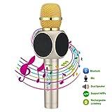 Apeanut Tragbar Drahtlos Bluetooth Karaoke Mikrofon für Singen Musik Studio Spiele PC iPhone Android