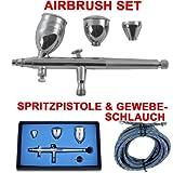 AIRBRUSH-PISTOLE für AIRBRUSH KOMPRESSOR SET GRAVITY DUAL-ACTION-GUN 186D 0