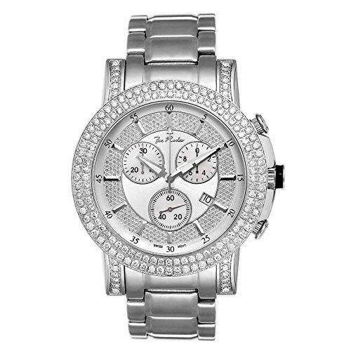 Joe Rodeo Diamond Men's Watch - TROOPER silver 6 ctw