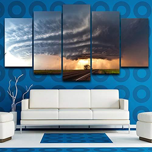 POLLKK Pintura 5 Paneles HD Print Pictures Home Decor