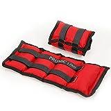 PROMIC 2er Set, 2x 1.5kg Polyester Gewichtsmanschetten für Hand- und Fußgelenke, Rot