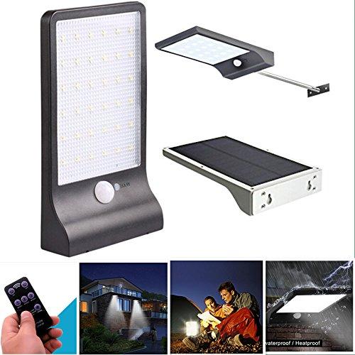 Außenleuchte, Wandleuchte, Lampe Solar, Wasserdicht Solar Powered LED Laterne-Licht und Induktion des Menschlichen Körpers Licht Rasen