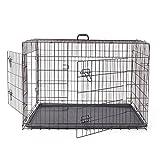 Easy Go Shopping grande cassa per cani pieghevole doppia porta in 2 lati pieghevole gabbia per animali con vassoio in ABS facile installazione con 4 dimensioni Pet Waterloo (Size : S)