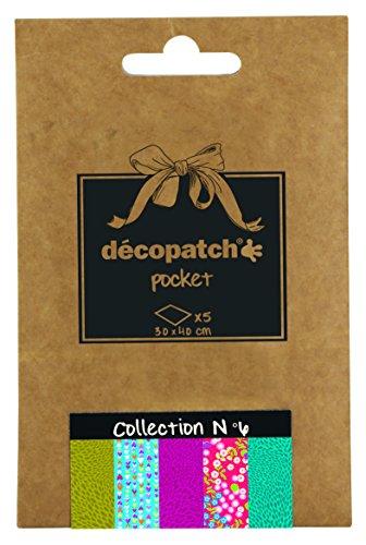 Decopatch Tasche Nr. 6 mit 5 verschiedenen Papieren