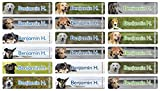 PVC Namensaufkleber mit Hundemotiv