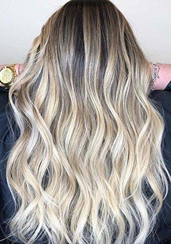 Sunny extension matassa capelli veri #4 marrone con #613 candeggina bionda balayage capelli alta qualita su misura capelli naturali umani 60cm 100g