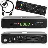 Anadol HD 200 inkl. HDMI-Kabel HDTV digitaler Satelliten-Receiver (HDTV, DVB-S2, HDMI, SCART, USB 2.0, Full HD 1080p) [vorprogrammiert] - schwarz