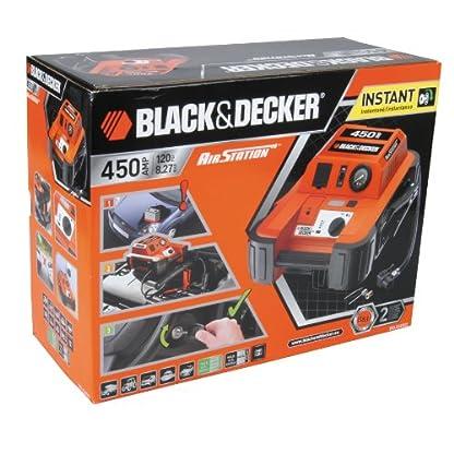 51%2B4Y7ZUzDL. SS416  - Black & Decker BDJS4501 450A Arrancador portátil de baterías con Compressor de 120 PSI, Color Naranja/Negro,