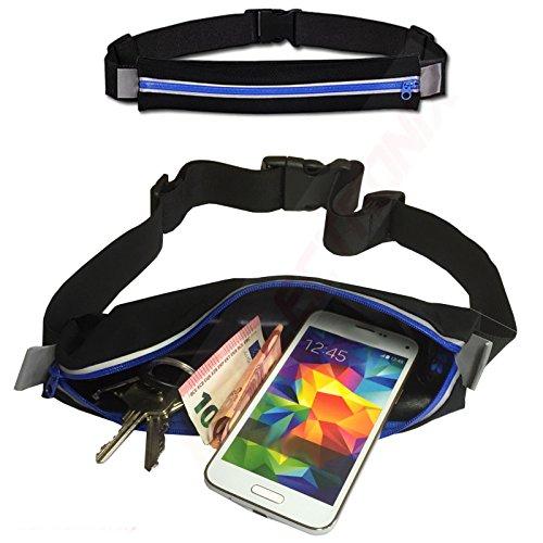 Da-lite 150 (HQ Joggingtasche BLAU Laufgürtel Sport Fitness Gürtel Tasche für Huawei P9 Lite)