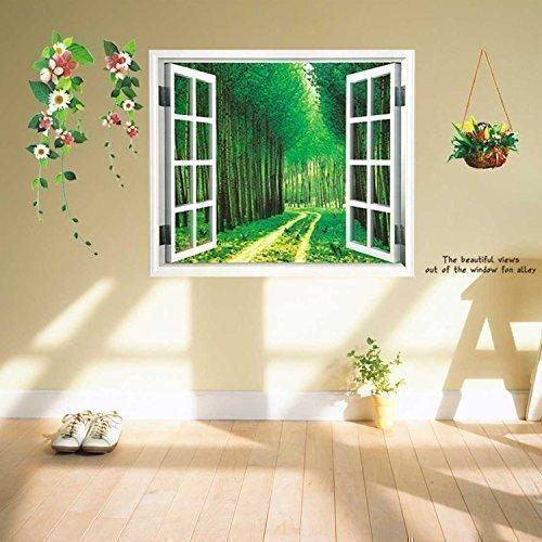 Walpus Wandaufkleber Wandkunst Abzieh Papierkunst Dekoration Alphabet Baum Apfel Kinder