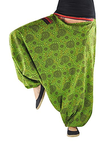 aaa0b0fc1cb virblatt drop crotch pants patterned harem pants for women and men (S-L) –  Naturverbunden