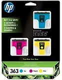 HP 363 3-pack Cyan/Magenta/Yellow Original Ink Cartridges (CB333EE)