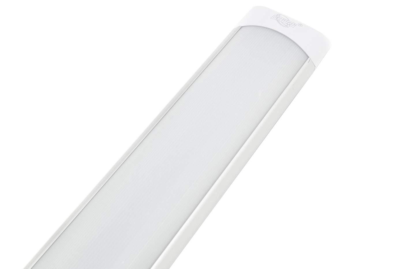 PLAFONIERA LED 40W WATT LUCE FREDDA 120CM SLIM SMD SOFFITTO 220V LAMPADA SILVER