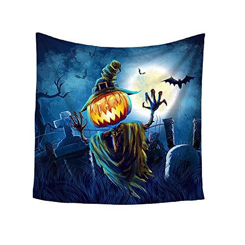 Qiusa Halloween-Druck-Quadrat-dekorativer Tapisserie-Strand-Wurfs-runder Tuch-Yoga-Matte (Farbe : G)
