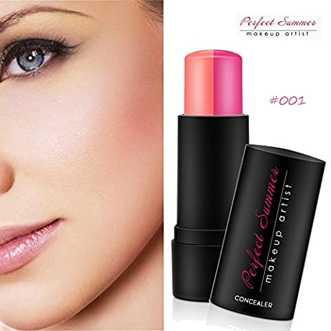 Perfect Summer Make Up Face Blush Blusher Stick Double Colors