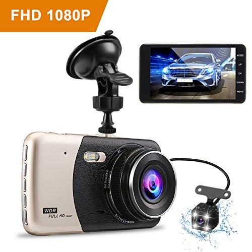 G-Sensor Loop-Aufnahme und Bewegungserkennung WDR Dashcam Crosstour Mini Autokamera Full HD 1080P 3 Zoll Bildschirm mit 170 /° Weitwinkel