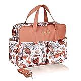Haobing 2pcs Baby Windeltasche Wickeltasche für Schwangere Wickelhenkeltaschen Umhängetaschen mit Wickelauflage (Rose, 39 * 12.5 * 29cm)