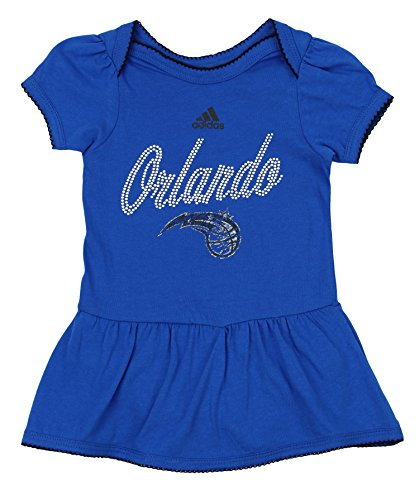 adidas NBA Newborn's Orlando Magic Dazzled Onesie Kleid blau, Unisex - Baby, blau, 3-6 Monate Tagless Onesies