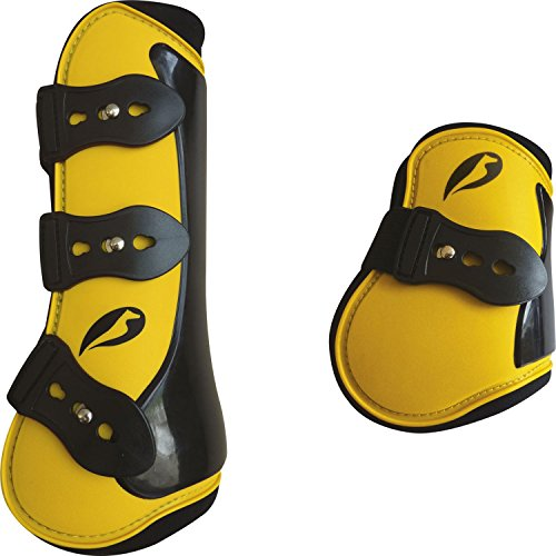 ensemble-guetres-et-protege-boulets-norton-competition-couleur-jaune-taille-cheval
