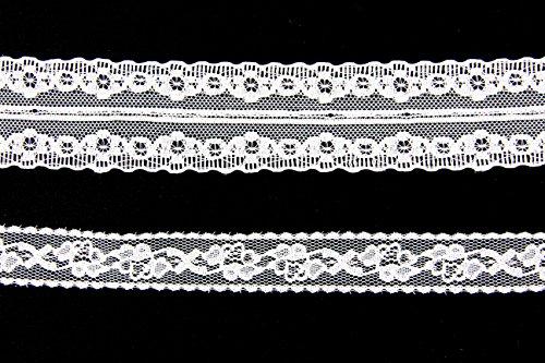 rdüre Vintage 2 x 10m (ZA - 001, Weiß) (Cosplay House Kostüme)