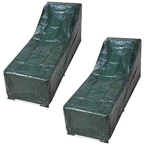 Gartenmöbel Deck (Woodside Abdeckungen, Wasserdicht, Für Sonnenliegen, Gartenliegen, Gartenmöbel, 2 Stk.)