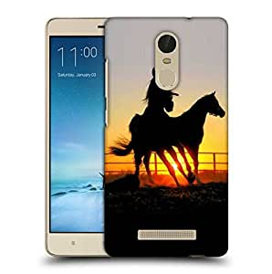 Snoogg Shade Of Horses Printed Protective Phone Back Case Cover For Xiaomi Redmi Note 3