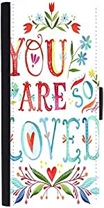 Snoogg You Are So Loved Designer Protective Flip Case Cover For Samsung Galax...