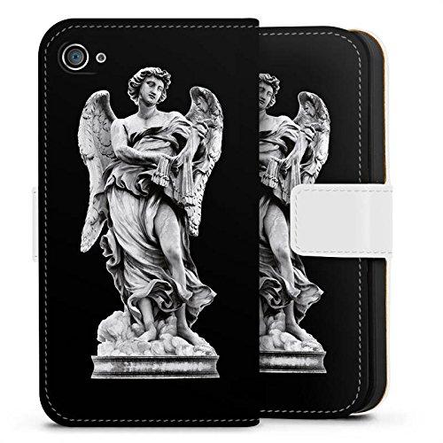Apple iPhone X Silikon Hülle Case Schutzhülle Engel Statue Angel Sideflip Tasche weiß