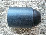Fassung E27 schwarz matt, mit Glattmantel, Sockel mit PVC-Gewinde M10