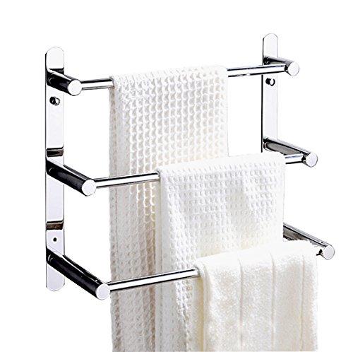 Badregal Handtuch Bar Bad Storage zum Aufhängen Organizer 40,6cm Moderner Hotel-Stil Wandhalterung, poliert