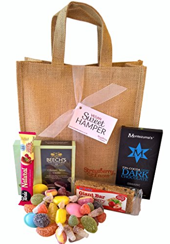 Vegan Sweet Hamper Bag - Sweets & Chocolates - Great Vegan & Vegetarian Gift for Birthday, Valentine's, Mother's Day, Easter etc!