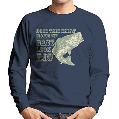 Does This Shirt Make My Bass Look Big Green Men's Sweatshirt