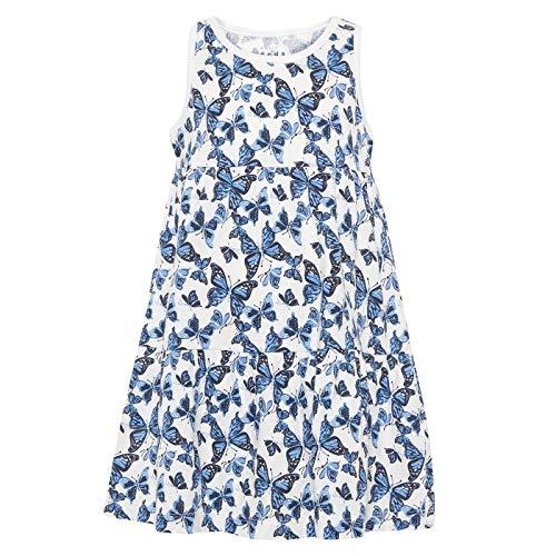 NAME IT Mädchen Sommer-Kleid Baumwolle Strandkleid NMFvigga, Größe:104, Farbe:Bright White aopsmall Flower