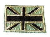 fat-catz-copy-catz verschiedene Farben Union Jack, Armee, England, Vereinigtes Königreich, patriotisch Flagge Eisen Aufnäher Kleidung Aufnäher khaki Union Jack Aufnäher, Small
