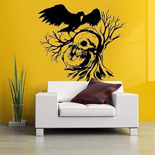 ree Crow Aufkleber Punk Death Decal Devil Poster Name Autofenster Kunst Wandtattoos Parede Decor Wandbild andere Farben 58x66cm ()