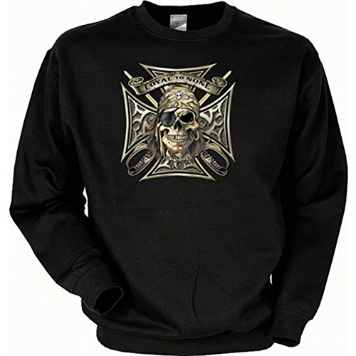 Piraten Metal Punk Pirates Loyal to None Sweatshirt Gr XL in schwarz