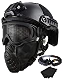 QHIU Tactique Casque de Protection Rapide de sécurité Helmet pour Airsoft Paintball...