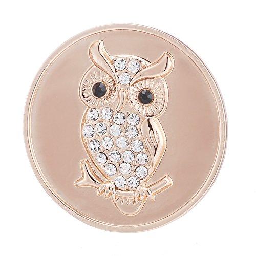 Morella® Damen Coin Eule rosegold 33 mm (Engel Sammlung)