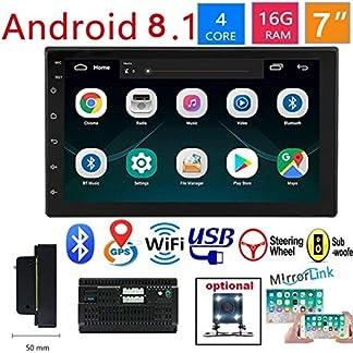 2-DIN-Android-81-Autoradio-Mit-Navi-7-Zoll-Bildschirm-Untersttzt-Bluetooth-USB-Android-Auto-WiFi-Auto-Unterhaltung-Multimedia-Radio-Mit-Mirrorlink-Fr-IOSAndroid-Phone-Rckfahrkamera