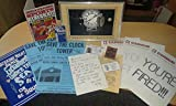 BACK TO THE FUTURE (14 MOVIE PROPS) - CLOCK TOWER FRAMED PHOTO + SPORTS ALMANAC + SAVE CLOCK TOWER FLYER + MANY MORE