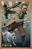 Die Abenteuer von Tim und Struppi Poster (66x96,5 cm) gerahmt in: Rahmen Eiche